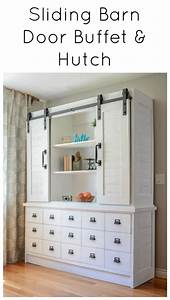 sliding barn door buffet the created home With buffet with sliding barn doors