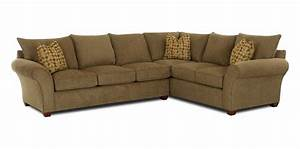 Klaussner fletcher transitional 2 piece sectional sofa for 2 piece sectional sofa with recliner