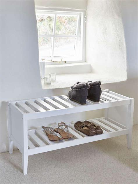 white wooden shoe rack wooden shoe rack scandi shoe rack