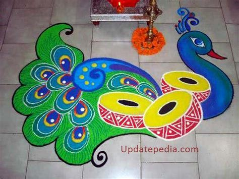 101  Easy { Rangoli Designs }   Simple Rangoli Pattern for
