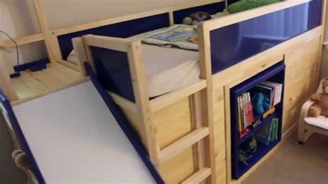 Pop Up Trundle Beds For Adults by Ikea Hack Kura Bed With Slide And Secret Room Youtube