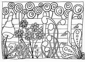 Jardin Dessin Couleur : coloriage jardin et plantes dessin gratuit imprimer ~ Melissatoandfro.com Idées de Décoration