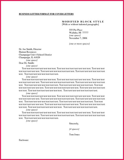 Cover Letter Template Email Format by Business Cover Letter Format Sop Exles