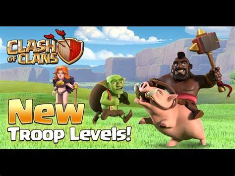 New Troop Levels  Lvl 5 Valkyrie  Lvl 6 Hog Riders  Lvl 7 Goblins  Sneak Peek 2  Clash Of