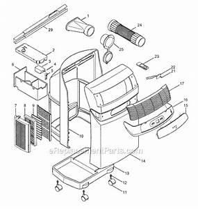 Delonghi Pac77e Parts List And Diagram   Ereplacementparts Com