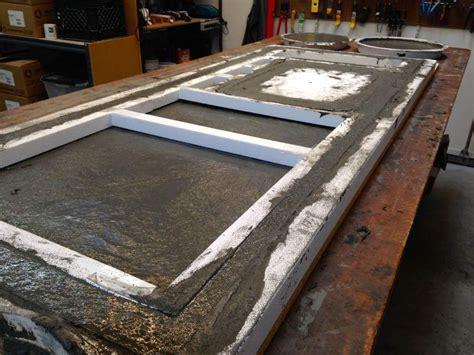 concrete countertop forms fiber reinforced concrete countertop demonstration