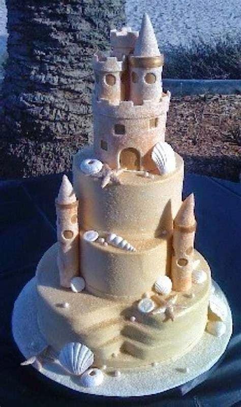 spectacular designs  beach wedding cake   vows
