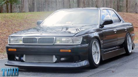 jdm style  skids nissan laurel review youtube