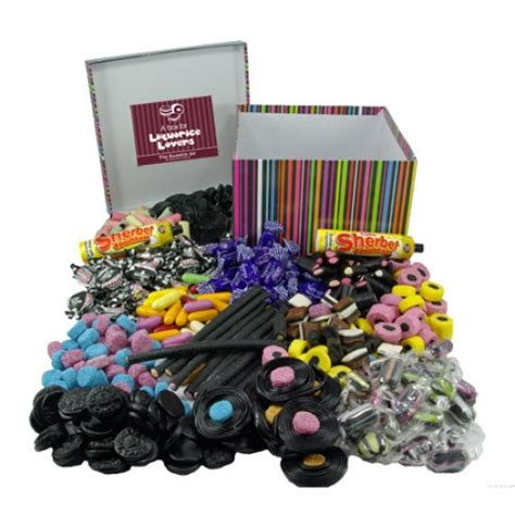 60th anniversary gifts a personalised gift box of liquorice at the sweetie jar