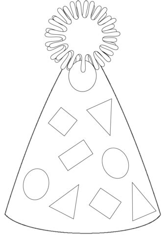 party hat coloring page  printable coloring pages