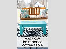 Easy Farmhouse Style DIY Coffee Table