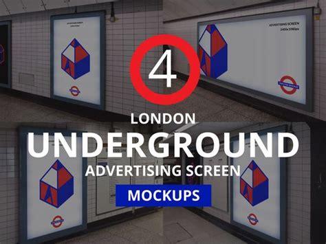 Download men's full soccer kit mockup psd. London Underground Screen Mock-Ups | Hering