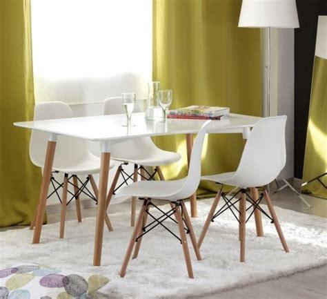 Jogo Mesa Jantar Retangular Eiffel   6 Cadeiras Eames Wood