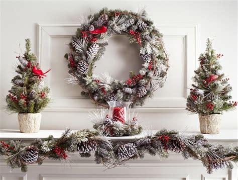 spruce   holiday decor   snowy pine wreath