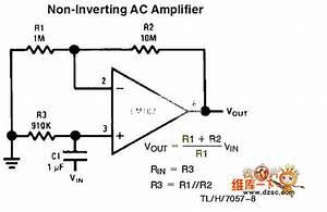 Non-inverting Ac Amplifier Circuit