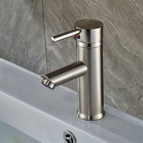 single hole bathroom sink faucet brushed nickel single hole basin faucet one handle bathroom sink mixer