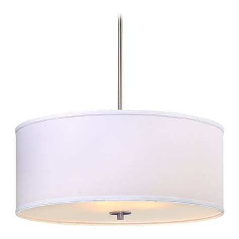 drum shade light fixtures large modern drum pendant light with white shade dcl