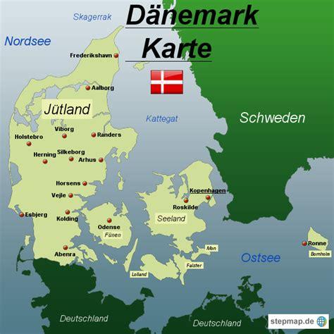daenemark karte von spiabene landkarte fuer daenemark