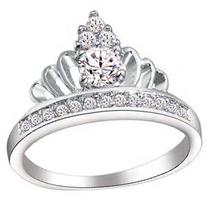crown wedding rings crown royal ring jewelry silver plated anel coroa cz bridal wedding luxury rings for