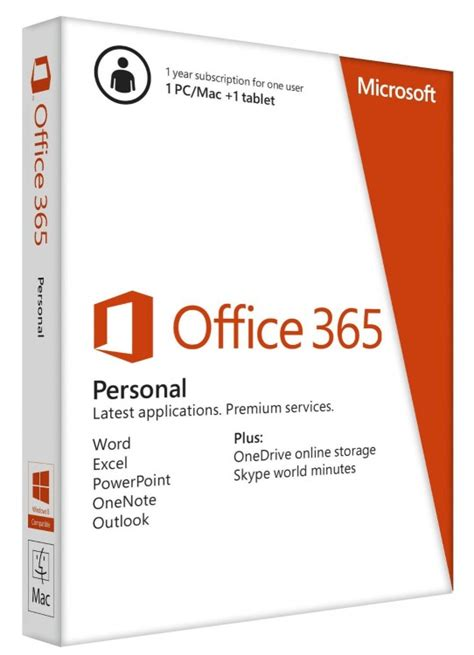 Office 365 Year by Microsoft Office 365 Personal 1 Year Ocuk