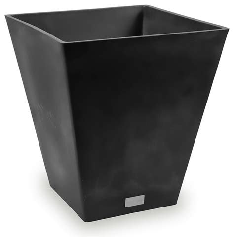 veradek nobleton square planter black contemporary outdoor pots and planters