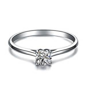 sterling silver engagement rings with real diamonds real 925 sterling silver classic 4 claws prongs setting white imitated wedding