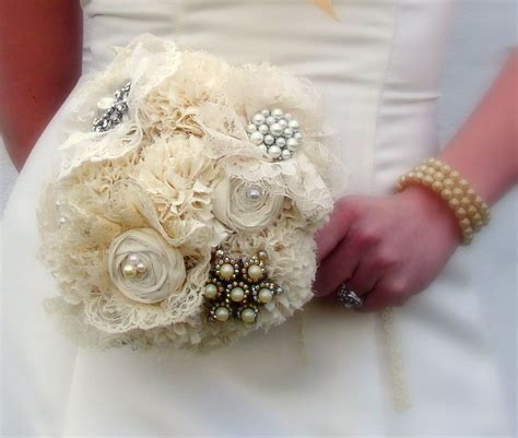 Hand Crafted Brooch Bridal Bouquet Jewelry Bouquet