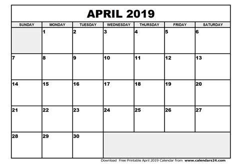 april calendar calendar