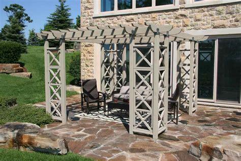 12x12 Flat Roof Garden Pergola Room - Made From Cedar Wood