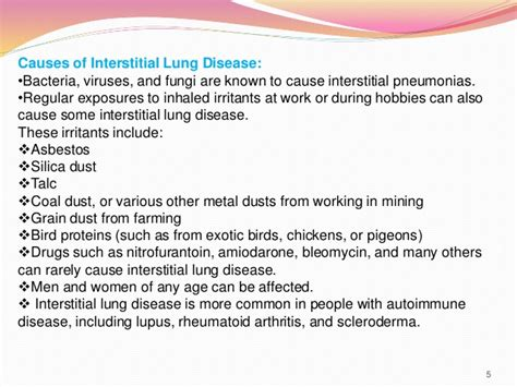 interstitial lung disease pharmacy