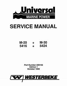 Universal Diesel M 20 Technical Manual