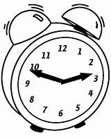 Clock Coloring Pages Alarm Blank sketch template