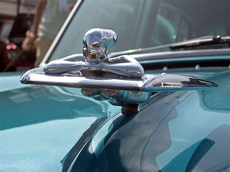 1954 Nash Ambassador Custom Petty Girl Hood Ornament