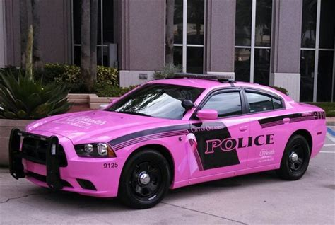fla cities pink police cars support breast cancer