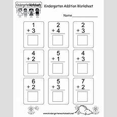 Kindergarten Addition Worksheet  Free Math Worksheet For Kids