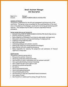 Aide Jobs Assistant Manager Job Description Resume
