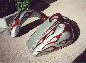 custom airbrush paint motorcycle flames - Bad Ass Paint