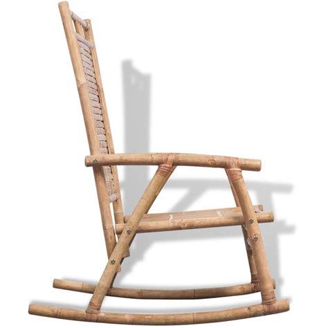 chaise à bascule pas cher acheter vidaxl chaise à bascule en bambou pas cher vidaxl fr