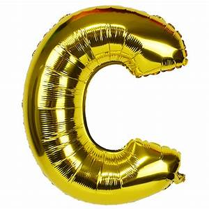 30quot foil mylar balloon gold letter c With mylar letter balloons