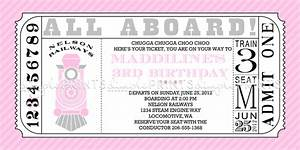 girl train ticket printable invite dimple prints shop With train ticket template word