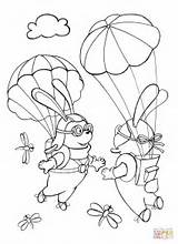 Sky Coloring Each Rabbits Skydiver Pages Template Parachutists Met Sketch Coloringpagesonly sketch template