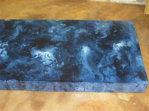 blue concrete countertops pin by pat foster on blue
