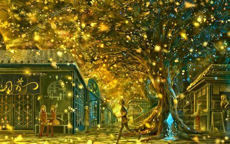 magic fantasy lights carnival festival tree wallpapers