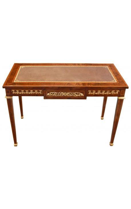 bureau louis 16 bureau plat de style louis xvi avec marqueterie et bronzes