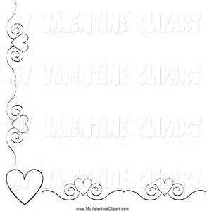 Black and White Valentine Border Clip Art