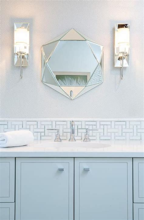 calming light blue kid s bathroom showcases a stunning