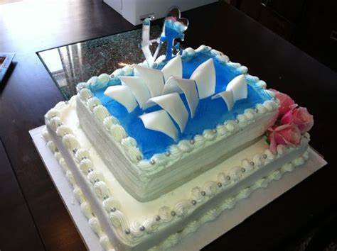 i diy d my own sydney opera house wedding shower cake