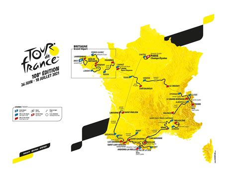 France and principality of andorra will be on the menu of the 108th edition of the tour. Tour de France 2021 : le parcours et les étapes