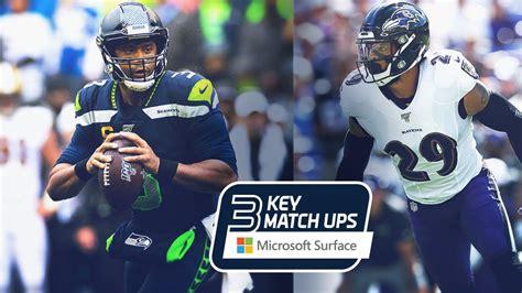 week  key matchups seahawks  ravens