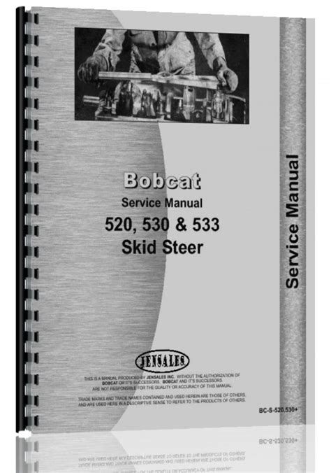 bobcat 533 skid steer loader service manual